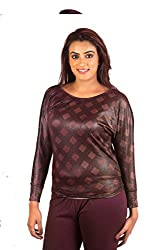 Vasaas Women Polyster Top (vs-1002C-Multicolour-Large)