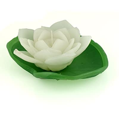 White Water Lily Floating Candle