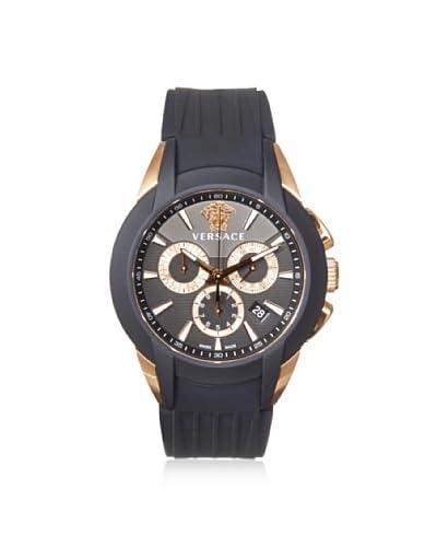 Versace Men's M8C80D008 S009 Character Black/Rose Rubber Watch