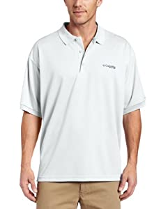Columbia Men's Perfect Cast Polo Fishing Shirt (White, 2XT)