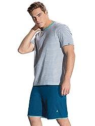 Jockey Men's Cotton Pyjama Set (8901326103159_RL02-0103-YD-PN_Medium_Nickel and Porcelain)