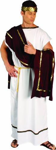 [Alexanders Costumes Roman Senator, Burgundy, One Size] (Roman Toga Costume For Kids)