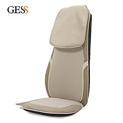 GESS®16 Shiatsu Massage Cushion with Heat Back Full Body Back Neck Should Massage Seat Chair,for Home or Car