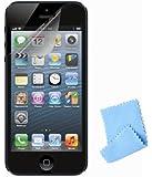 Lot de 6 : Protections invisibles adaptées au Apple iPhone 5 / 5G / 5GS - Anti-Scratch / Anti-reflet / Films protecteurs Anti-traces + Chiffonnete Microfibre