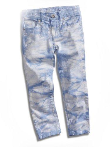 Guess Kids Girls Little Girl Tie-Dye Jeans, Light Blue (3T)