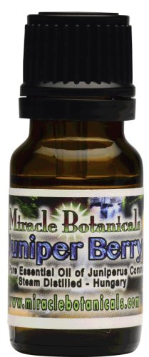 Miracle Botanicals Juniper Berry Essential Oil - Wildcrafted - 100% Pure High Quality Medicinal Grade Juniperus Communis 10ml