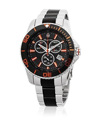 Burgmeister Reloj de cuarzo 533-127B Plateado / Negro 43 mm