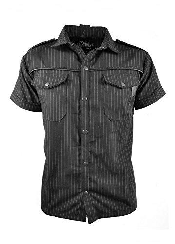 Vixxsin a righe, Poison Gothic Heavy Metal-Maglietta da uomo, colore: nero nero Small