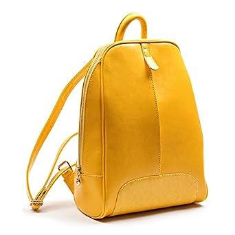 aolevia sac dos jaune femme sac de luxe en cuir. Black Bedroom Furniture Sets. Home Design Ideas