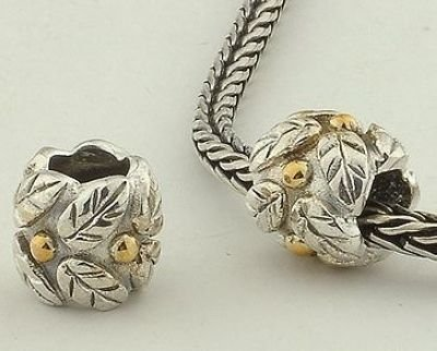 General Gifts 925 Sterling Silver With 14K Gold European Style Vermeil
