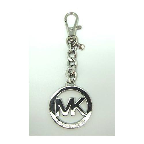 Michael Kors MK logo Keychain Key Fob Silver