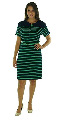Lauren Ralph Lauren Women'S Short Sleeve Knit Sheath Dress Navy/Green L