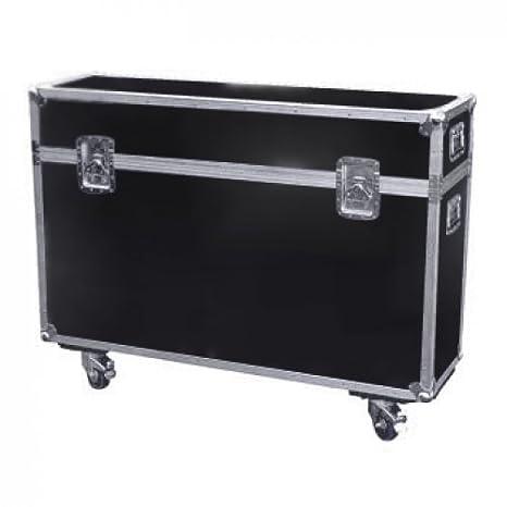 LCD Plasma Transportkoffer bis 61 Zoll mit Rollen Schiefergrau