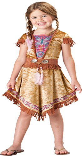 Girls Native American Indian Maiden Child Fancy Dress Party Halloween Costume