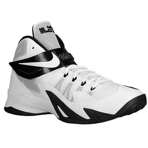 Nike Men's Lebron Soldier VIII tb Basketball Shoes-White/Bla