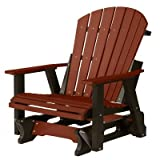 Berlin Gardens Comfo-Back Adirondack Glider - Burgundy on Black