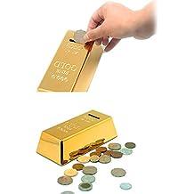 Alcoa Prime DIU# Gold Bullion Bar Piggy Bank Brick Coin Bank Saving Money Box For Chilren Shipping