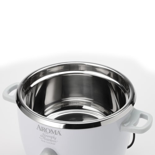 Aroma Housewares Simply Stainless 14 Cup Cooked 7 Cup Uncooked Rice Cooker Stainless Steel