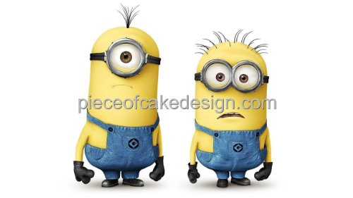 1/4 Sheet ~ Despicable Me Minions Close Up Birthday ~ Edible Image Cake/Cupcake Topper!!!