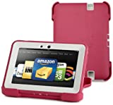 OtterBox Defender Series Protective Case for Kindle Fire HD 7&quot;, Pink/Papaya (with built-in screen protection)