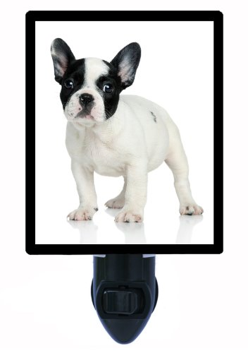 Dog Night Light - French Bulldog - White and Black (Bulldog Night Light compare prices)