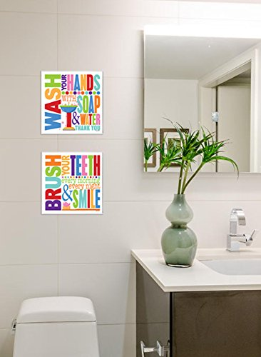 Bathroom wall plaques