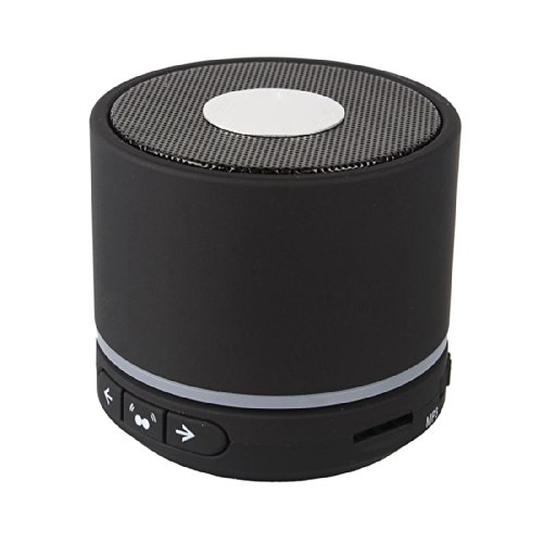 Kootek Mini Portable Rechargeable Bluetooth Wireless Speaker Microphone Enhanced Bass With 3.5Mm Aux Line-In Cable For Iphone 4 5,Ipad,Ipod Touch,Ipad,Tv,Mac,Stereo,Andorid Mobile Mp3 (Black)