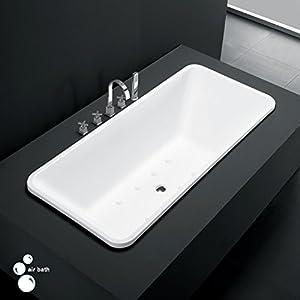 "59"" Cullen Acrylic Drop-In Air Tub - White"