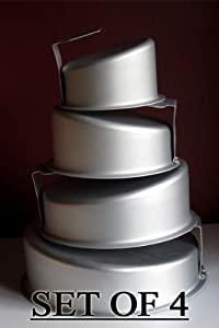 Round Topsy Turvy Cake Pans Set Tilted Cake Pans Kitchen Dining