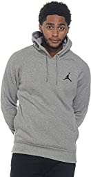 Nike Mens Jordan Jumpman Brushed Pull Over Hoodie Dark Grey/Black 689267-063 Size 3X-Large