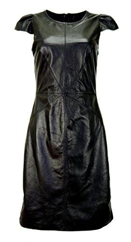 DX-Exclusive wear Damen Lederkleid, kleid, kleines schwarz , KS-0002 (36)