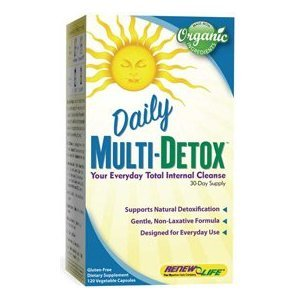 Daily Multi-Detox, Total Internal Cleanse Formula Made with ORGANIC Ingredients by Renew Life, 120 capsules