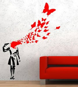 Banksy Suicide Butterflies Vinyl Wall Decal Sticker