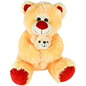 Soft Sweet Cuddly Teddy Bear With Baby 35 Cm