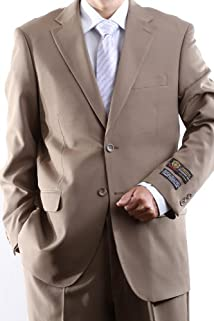 Men's Single Breasted Two Button Tan Dress Suit