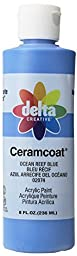 Delta Creative Ceramcoat Acrylic Paint in Assorted Colors (8 Ounce), 020748 Ocean Reef Blue