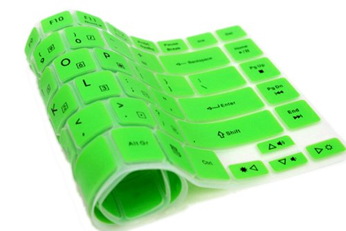 Folox Tm Colored Keyboard Protector Cover For Acer Aspire M3-581T M3-581Ptg M5-581G M5-581T V5-571G V5-571Pg V5-551G V5-531P (Green)