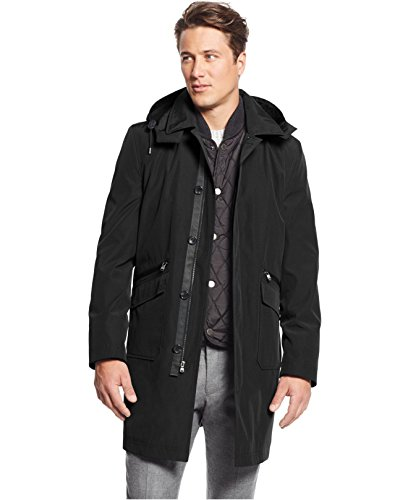 Michael Kors Conway Classic-Fit Vested Rain Coat, Black (XLT) (Rain Jackets Michael Kors compare prices)