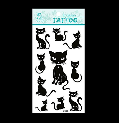 SYZ Beauty Waterproof Temporary Tattoos Cats Tattoos