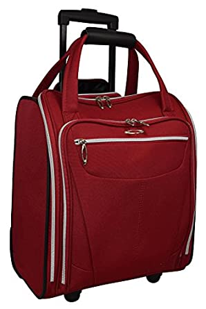 Kemyer Wheeled Under Seat Carry-on Luggage (One Size, Crimson)