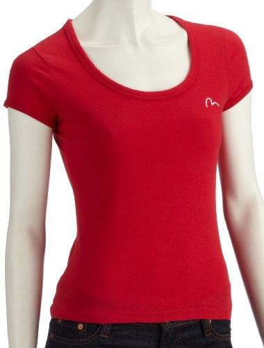 Evisu Womens Tshirt Red - X-Small