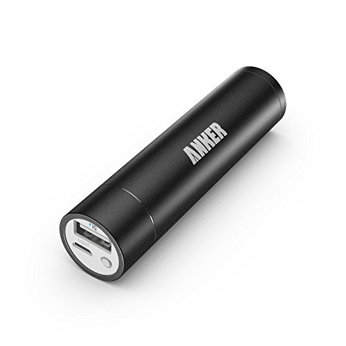 Anker® 2nd Gen Astro Mini 3200mAh Lipstick-Sized Portable External Battery Charger with PowerIQ? Technology for iPhone, Samsung, HTC and More (Black)
