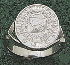 Michigan Wolverines Seal Mens Ring Size 10 1 2 - 14KT Gold Jewelry by Logo Art