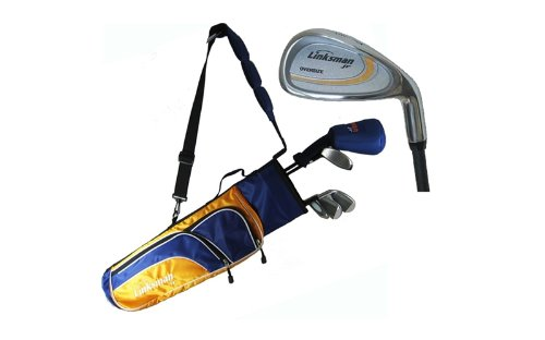 The Golf Club Master Linksman Kids X3 Junior Golf Club Set W Bag Ages 9 12 Year Old