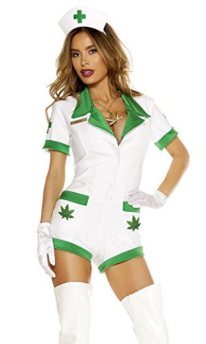 [Forplay Women's Perfect Prescription, White, Large/X-Large] (Forplay Costumes 2016)