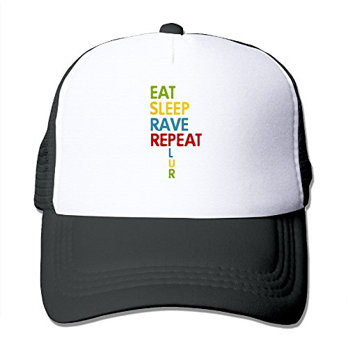 Eat Sleep Rave Repeat Fashion Cool Hat