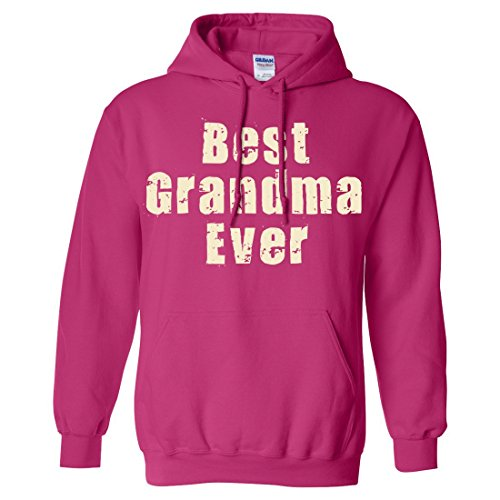 Best Grandma Ever Sweatshirt Hoodie By Dsc - Heliconia 3X-Large front-497847