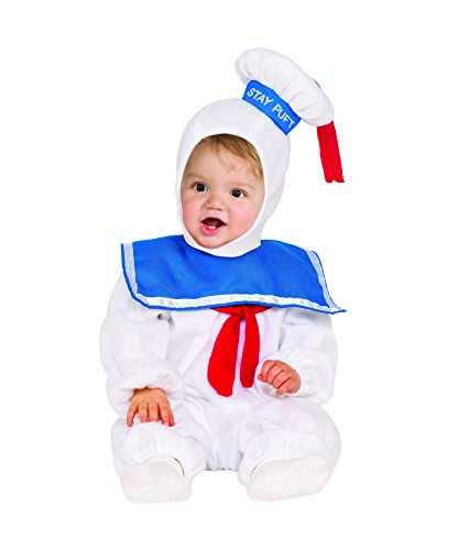 Rubie's Classic Ghostbusters Ez-On Stay Puft Romper Costume, White, Toddler 2T
