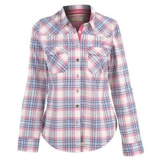 Lee Cooper Check Shirt Ladies Blue/Pink 14 (L)