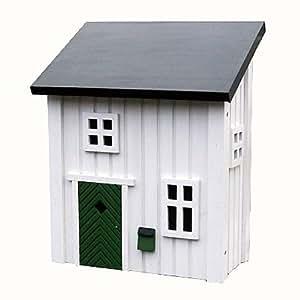 landhaus briefkasten postkasten holz schweden wei 39cm dekoschild schutzengel. Black Bedroom Furniture Sets. Home Design Ideas